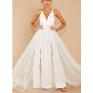 Matters of heart White tulle maxi dress by Luxxel